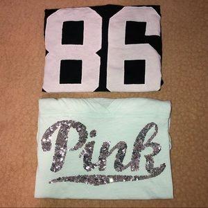 Pink Victoria's Secret T-Shirt Bundle!